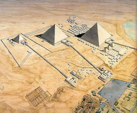 Giza Necropolis Drawing